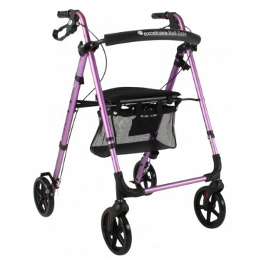 Excelcare Roll Eaze Rollator Paars